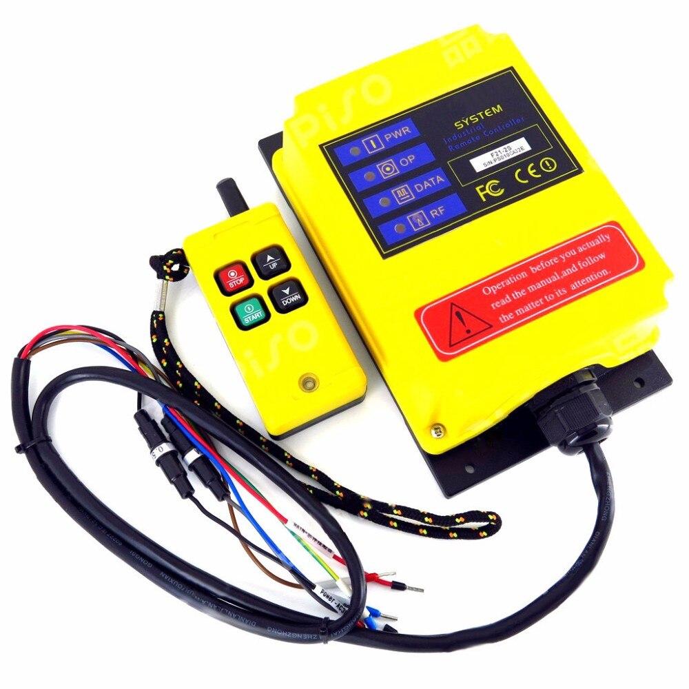 Telecontrol F21-2s Industriële Remote Switch Radio Afstandsbediening Ac Dc Universele Draadloze Voor Kraan Auto Garage Schakelaar Controle Elegant In Geur