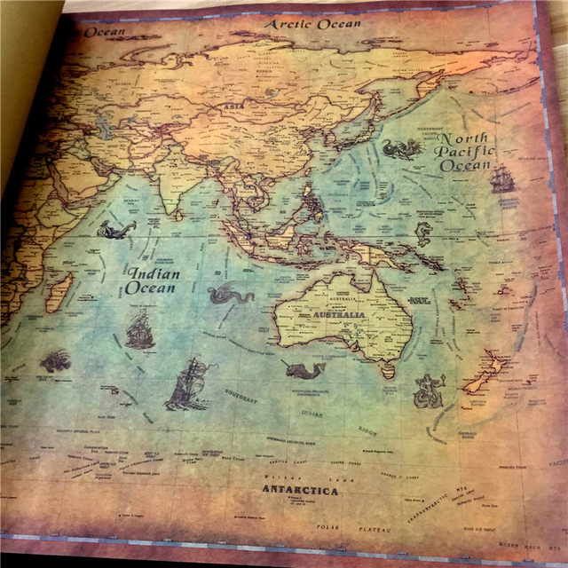 Online Shop Xcm Large Classic World Map Kraft Paper Paint - Huge classic world map