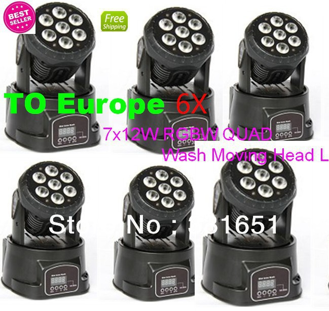6pcs/lot light moving head led wash 7x10w rgbw quad light perfect for dj equipment 4pcs lot fast shpping 150w led beam moving head light dj equipment 12x12w rgbw cmy quad