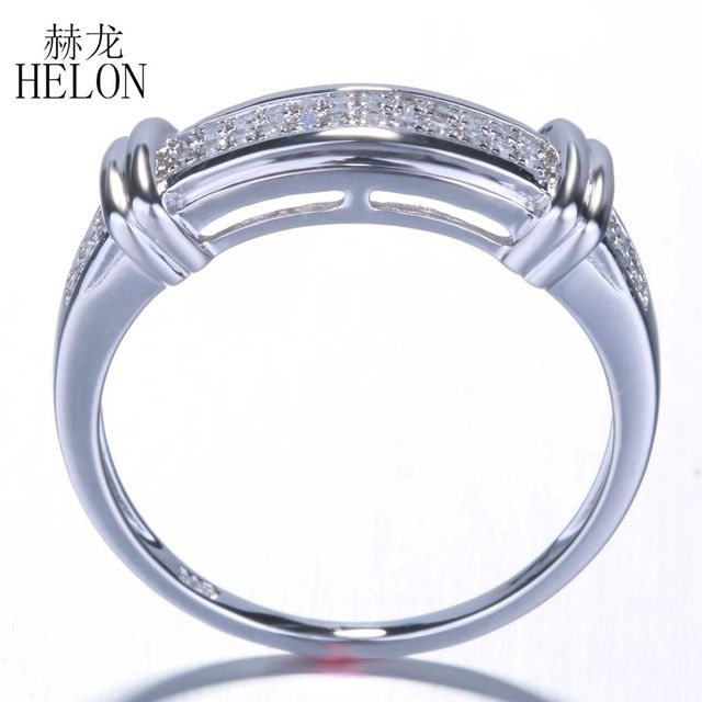 HELON 925 Sterling Silver Ring 100% Genuine Natural Diamond Ring For Men's Engagement Anniversary Party Gift Trendy Fine Jewelry