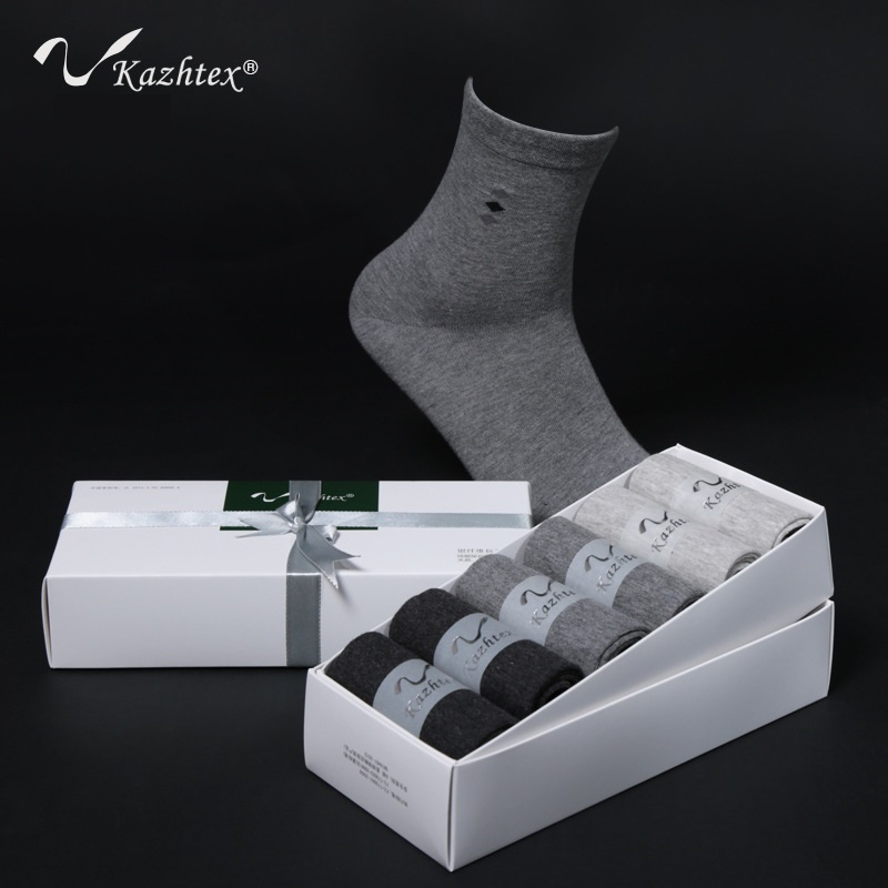 C320104B Kathtex Mens Silver Fiber Antibacterial Socks Dress Casual socks Antibacterial deodorization