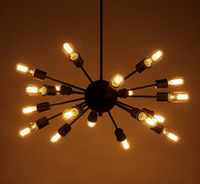 Luminaria FÜHRTE Restaurant lichter wohnzimmer Bar Cafe lichter Retro Satellite lampe Kronleuchter Schlafzimmer lichter N1107-in Pendelleuchten aus Licht & Beleuchtung bei