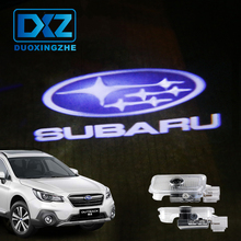 DXZ 2Pcs Car Logo Door Welcome Light Car LED Projector Laser For SUBARU Forester Outback legacy Impreza XV