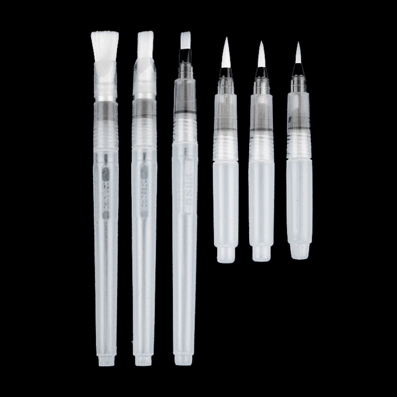 3/6 PCS Set Water Paint Soft Brush Pen Watercolor Brush Pen refillable Nylon Brush Tip Pen For Painting Drawing Art Supplies3/6 PCS Set Water Paint Soft Brush Pen Watercolor Brush Pen refillable Nylon Brush Tip Pen For Painting Drawing Art Supplies