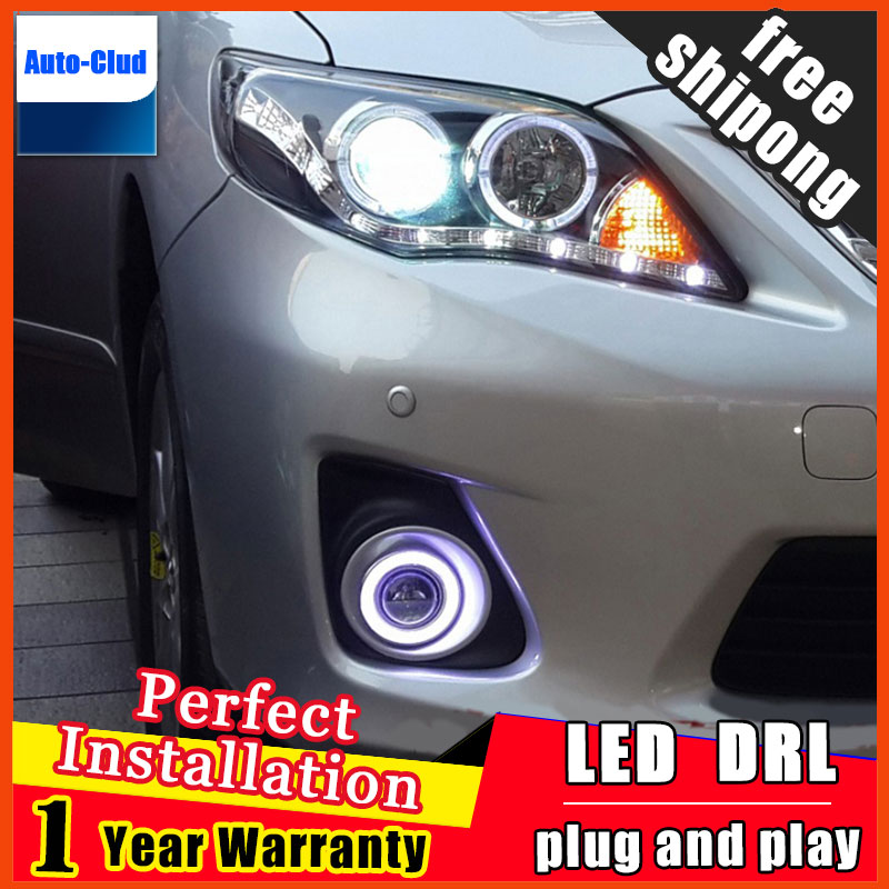 car styling angel eyes fog light for toyota corolla 2008-2013 LED fog lamp LED Angel eyes LED fog lamp 2 function special car trunk mats for toyota all models corolla camry rav4 auris prius yalis avensis 2014 accessories car styling auto