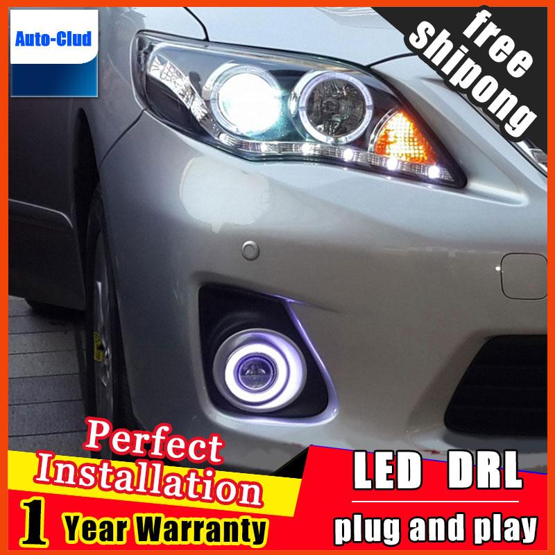 car styling angel eyes fog light for toyota corolla 2008-2013 LED fog lamp LED Angel eyes LED fog lamp 2 function система освещения 2008 2010 toyota corolla 4 al