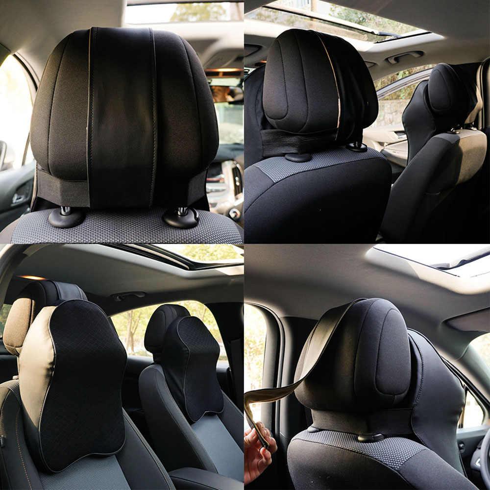 Car Neck Pillow 3D Memory Foam Head Rest Adjustable Auto Headrest Pillow Travel  Neck Cushion Support  Holder Seat pillow