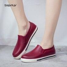 SWYIVY bottes de pluie femme caoutchouc coupe basse été 2018 nouveau plat femme chaussures décontractées imperméable femmes bottes de pluie bottes de pluie femme 40