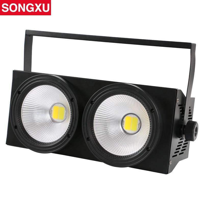 2 Eyes LED Audience Light 2 100W Blinder Light Cold white Warm white 2in1 COB Leds