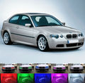 Для BMW E46 3 Серии Compact 2001-2004 Отлично Angel Eyes комплект Multi-Color Ultrabright 7 Цветов RGB LED Angel Eyes Halo кольца