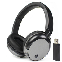New TV Rechargeable Multifunction 2 4G Wireless Headset TV Headphones With Microphone For TV PC Pad