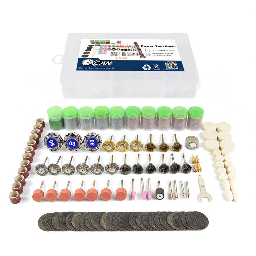372pcs Rotary Power Tool Set Mini Drill Grinder Polishing Wheel Kit Felt Wheel Accessories Cutting Disc Wood Work Brushes