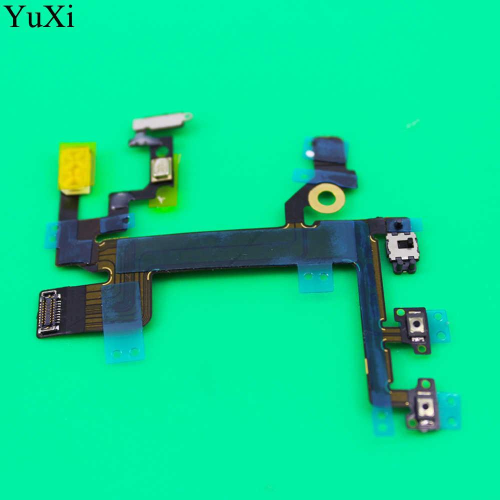 YuXi новый для iPhone 5S включение/выключение питания, громкость переключатель блокировки кнопка отключения звука датчик гибкий кабель Замена