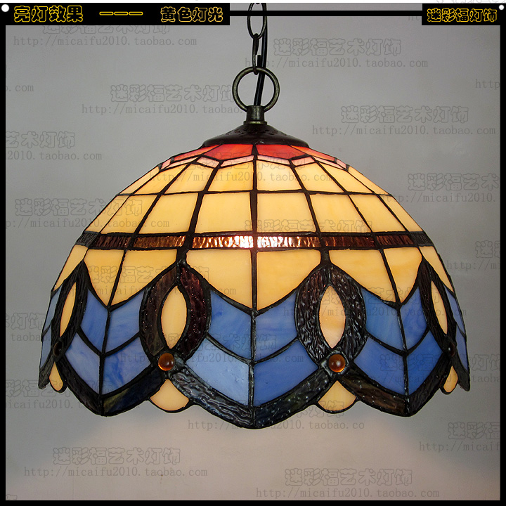 12inch tiffany baroque stained glass suspended luminaire e27 110 240v chain pendant lights for. Black Bedroom Furniture Sets. Home Design Ideas