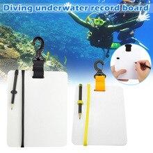 Подводное погружение под море писаный сланец Дайвинг Wordpad скорость доска с зажимом поворотный карандаш ALS88