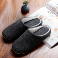Men's Cotton Black autumn season Home Furnishing East indoor household warm slippers soft bottom anti-skid slippers 39-44 size
