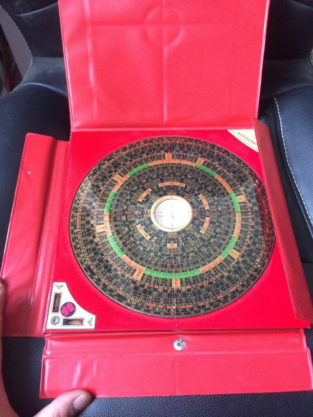 TNUKK chinois FENG SHUI Dragon métal & bois boussole magnétique en plastique rouge boîtier nouveau métal artisanat.
