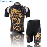 XINTOWN Team Sports Outdoor Summer Ropa Ciclismo Cycling Jersey Bib Shorts Set Bike Bicycle Short Sleeve