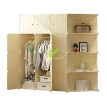 Bedroom Furniture Storage/plastic Cabinet Wardrobe Closet Steel Skeleton Kids/non Woven Wardrobe Assembly Simple and Easy