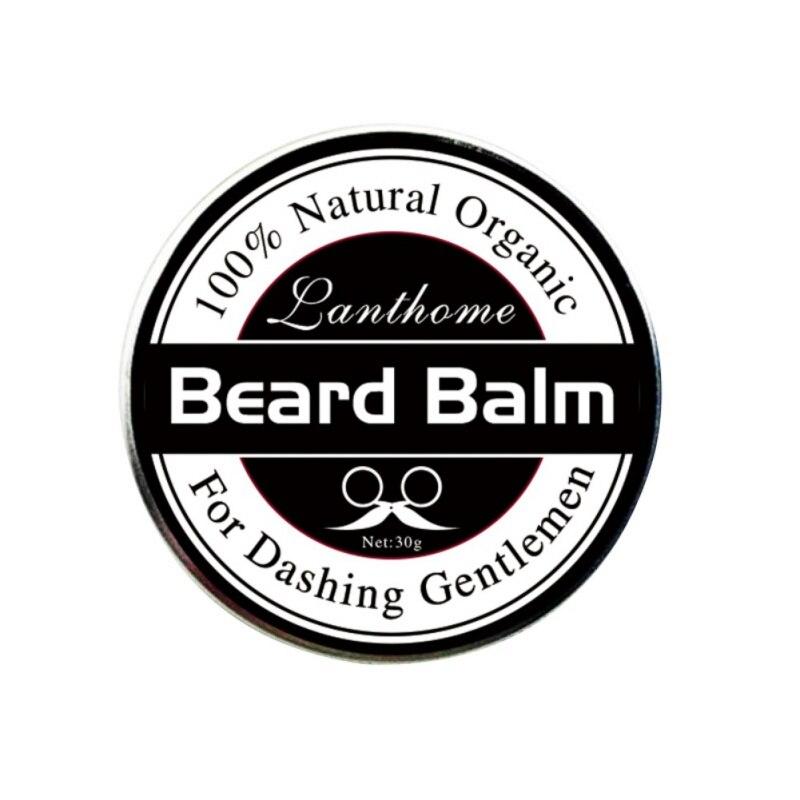 Beard wax 100% Natural Beard Oil Balm Moustache Wax for Styling Beeswax Moisturizing Smoothing Gentlemen Beard 4
