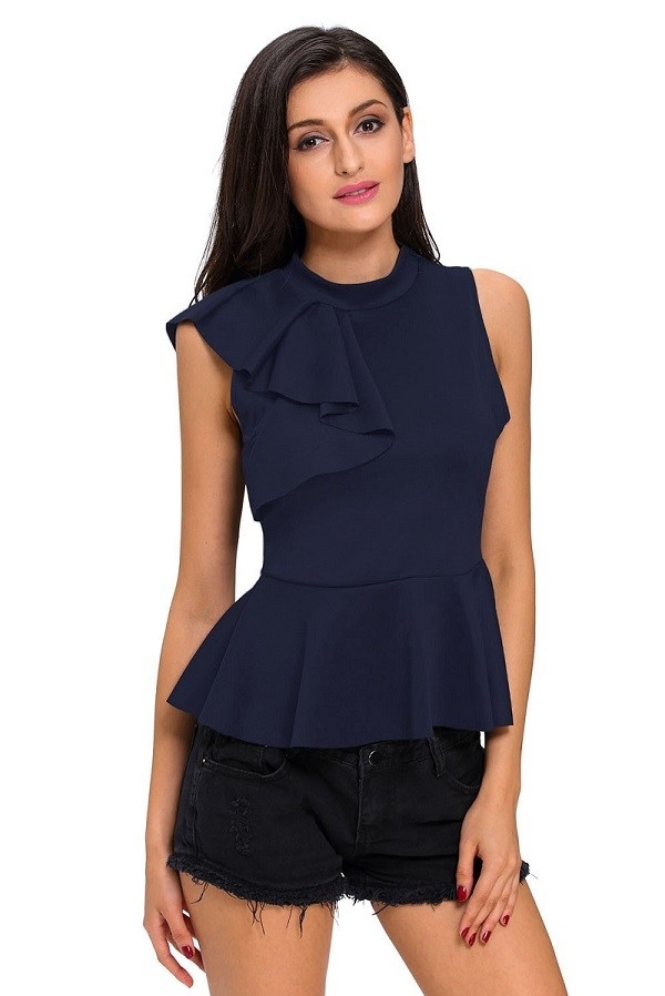 Royal-Blue-Asymmetric-Ruffle-Side-Peplum-Top-LC25845-5-1