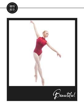 Blue Professional adult lady or girl ballet dance low cross back leotard Black