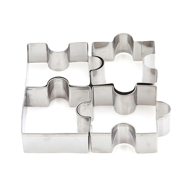 Stainless Steel Puzzle Style Cookie Molds Set