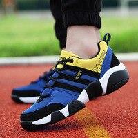 Новые летние мужские повседневная обувь модные Обувь с дышащей сеткой большой Размеры повседневная обувь