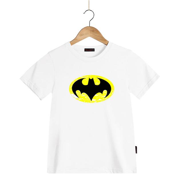 Batman À Manches Courtes T-shirt Garçons Vêtements Été Enfants Filles 100% Coton Marque T-shirts Enfants Ras Du Cou Vêtements Tops T-shirts
