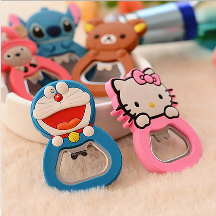 Fashion Cartoon Hello Kitty Stainless Steel Beer Bottle Opener With Magnet Can Be Fridge Magnet Wholesale KCS