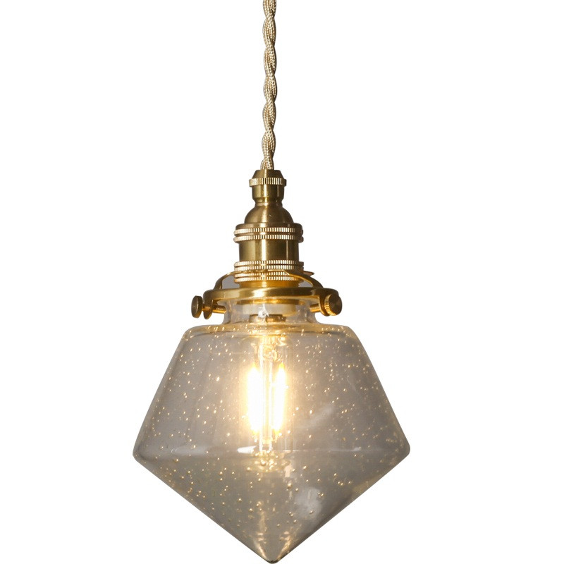 Loft Vintage LED Pendant Lamp Copper Bubble Glass Hanging Light Fixtures Deco Home Lighting Antique Droplight Luminaire creative design modern glass ball pendant lights lamps for dining room living room bar 96 265v e27 edison bulb wpl116