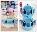 Kawaii 7*6CM Lilo Stitch Plush Stuffed Toy , Gift Toy with 10CM Coin Bag Wallet Pouch , 20cm Plush Coin Pencil BAG Pouch
