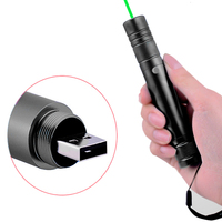 Usb 충전 532nm 녹색 레이저 휴대용 5 mw 레이저 포인터 펜 강력한 빛 레코딩 레이저