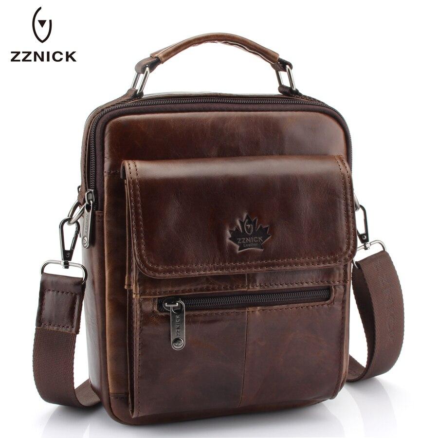 512993265720 Buy New Fashion Men Genuine Leather Messenger Bag Male Oil Wax Leather  Cross body Shoulder Bag First Layer Cowhide Men Bag Briefcase Online