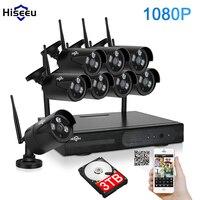 CCTV System 1080P 8ch HD Wireless NVR Kit 3TB HDD Free Outdoor IR Night Vision IP