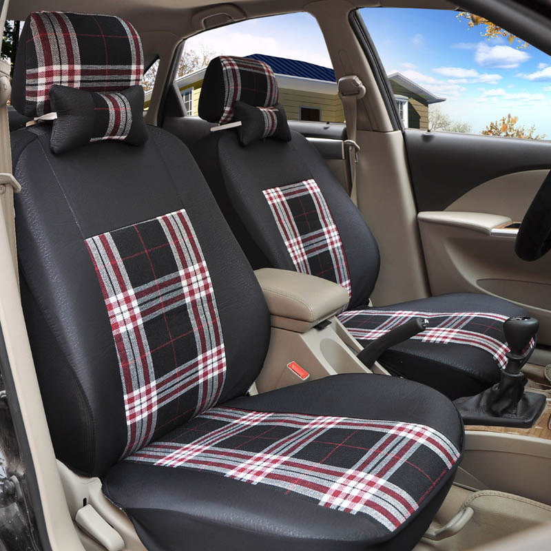 Yuzhe flax Universal car seat covers For Lada 110 111 112 Kalina Niva Vesta XRAY Granta car accessories car styling cushion 9pcs set coffee color pu leather universal auto car seat covers automobile seat cover chair cushion for lada kalina toyota suzu