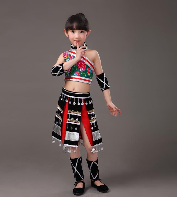 f6f8477bf Yunnan Bai Peng suit coat blossoming cucurbit flute performance clothing  boy Minorities Ethnic costumes children folk dance-in Chinese Folk Dance  from ...