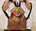 Fashion Vintage women Embroidery backpack Handmade Embroidered canvas bag Lady school bag travel backpack rucksack Free Shipping