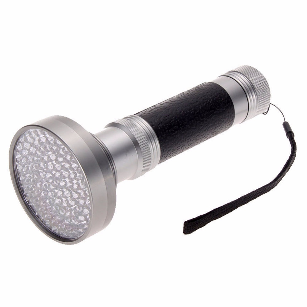 Waterproof 100 LED 395-400nm UV Ultra Violet Blacklight Scorpion Flashlight Torch Outdoor Detection lamp wf 501b led flashlight 375nm uv ultra blue violet blacklight waterproof torch lamp 18650