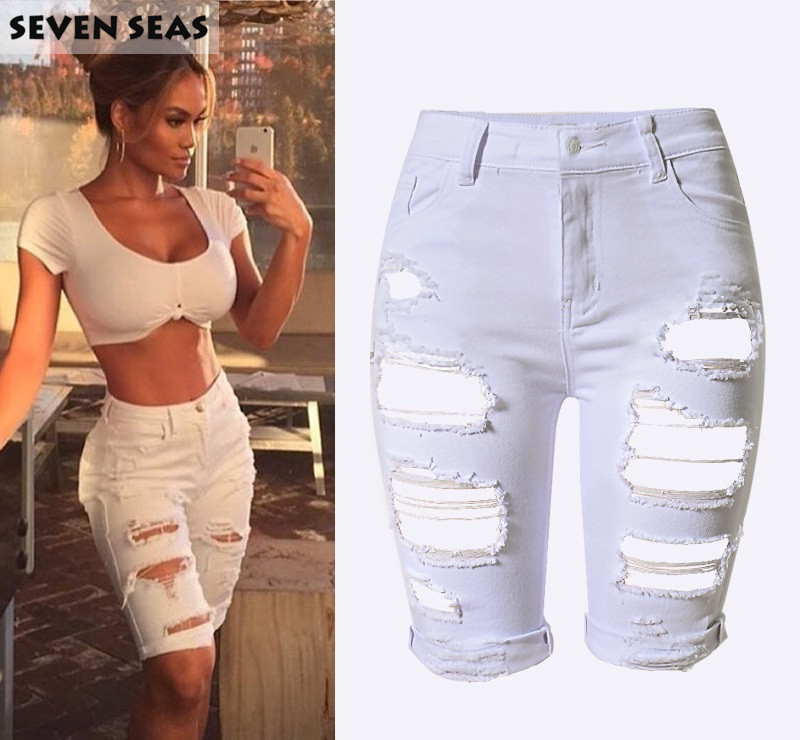 Online Get Cheap Knee Length Ripped Jean Shorts -Aliexpress.com ...