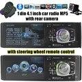 12 В Автомобилей Радио Аудио Плеер Стерео MP4 MP5 FM bluetooth USB TF 1 DIN 4.1 дюймов руль пульт дистанционного управления камера заднего вида