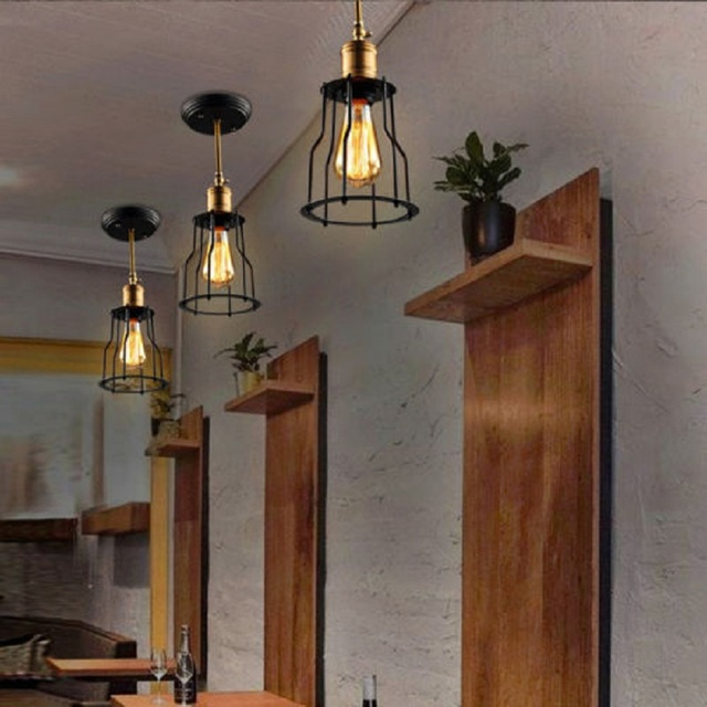 WOXOYOZO R tro Industrielle Plafonnier Commodit Rotatif Support Edison Ampoule Lampe Pour Salon Salle Manger Couloir.jpg 640x640 5 Luxe Plafonnier Ampoule Uqw1