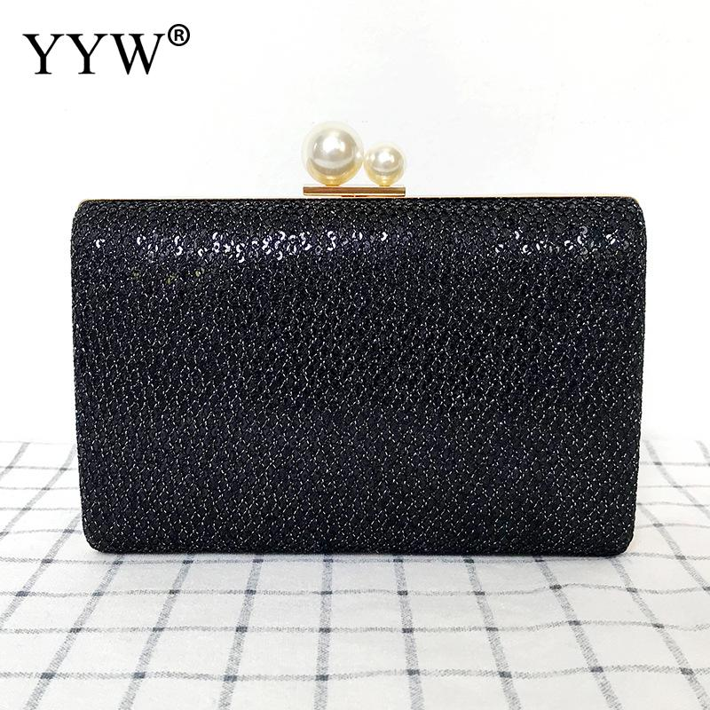 Famous Brand Evening Clutch 2019 Women'S Bag Designer Sequined Clutches Shoulder Bag With Chain Fashion Luxury Clutch And Purse(China)