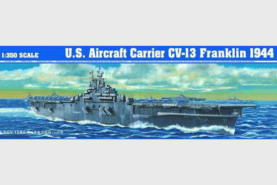05604 Trumpeter model 1/350 World War II U.S. Aircraft Carrier CV-13 Franklin 1944