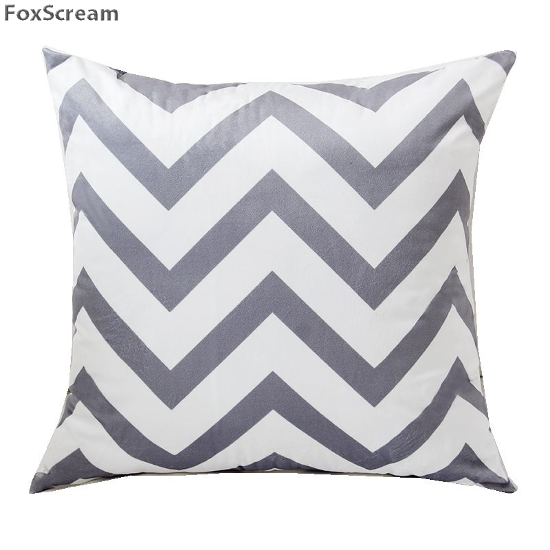 Nordic Geometric Cushion Covers Home Decor Gray Decorative Pillows
