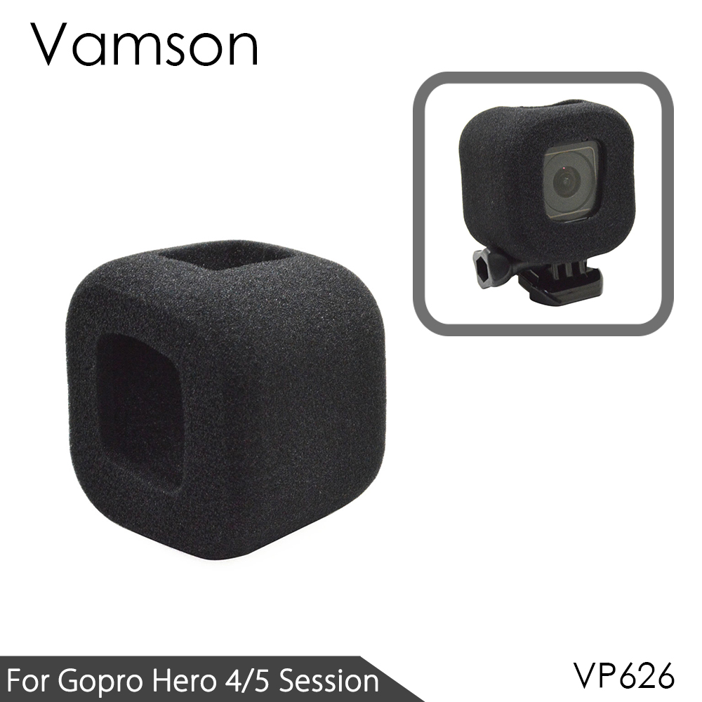 Vamson for GoPro Hero 4 session/5 session Accessories Foam Wind Screen Anti Wind Noise Windshield Cover For gopro 4s/5s VP626
