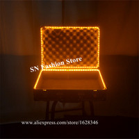 M56 Party Magic show Dollar box dj suitcase stage led costumes lighted props bar dance glowing led props robot men wears disco