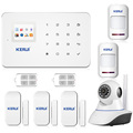 New arrival wireless phone app gsm alarm system home security alarma gsm 99 wireless zone TFT color display built-in siren
