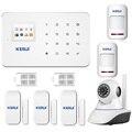 Nova chegada telefone app sem fio gsm sistema de alarme da segurança home alarma gsm 99 zonas sem fio TFT cor da exposição a sirene interna