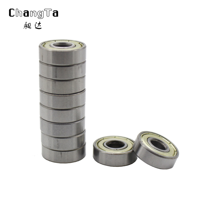 CHANGTA 50pcs Double Shielded Miniature High-carbon Steel Single Row 608ZZ ABEC-7 Deep Groove Ball Bearing 8*22*7 8x22x7 mm